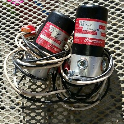 Humphrey X85 Solenoid Valves, Set Of Two, Untested.