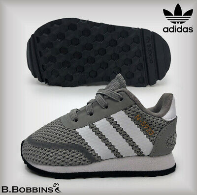 new styles f0bf2 db22c Adidas Originals Size Infant UK 3 Euro 19 Grey N-5923 Trainers Baby Boys  Girls