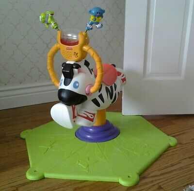 FISHER PRICE GO BABY GO BOUNCE & SPIN ZEBRA SOUND pick up only