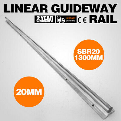 1x SBR20-1300mm Supported Linear Rail Shaft Routers Aluminium 20mm