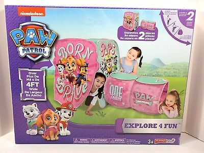Nickelodeon Paw Patrol Explore 4 Fun Pink Girls Tent Play Hut - NEW