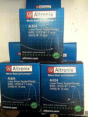 """Brand New """"3"""" Altronix AL624 Linear Power Supply, Switch selectable 6, 12, 24VDC"""