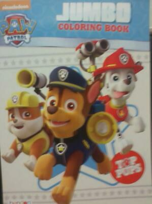"Paw Patrol, ""Top Pups"", Jumbo Coloring Book, 2017, 8.5+, VF+, Boys & Girls, 3+"