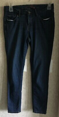 30bc588f29e449 Faded Glory Womens Jeans Size 8 Skinny Leg Fit Stretch Inseam 28 Mid Rise  Blue