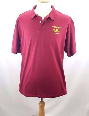 Vintage Western Shirt WAGONS WEST TUCSON ARIZONA Red Polo Size XL