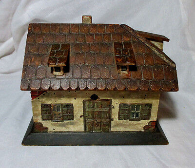 INCREDIBLE Hand Carved English Cottage SEWING WORK BOX;Original ANTIQUE c1700's