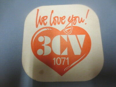 1 only COURAGE Brewery,Victoria,CREST LAGER / 3CV Radio Beer COASTER