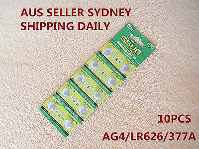 10pcs AG4/LR626/377A Button Cell Coin  Alkaline Battery 1.55V  Watches