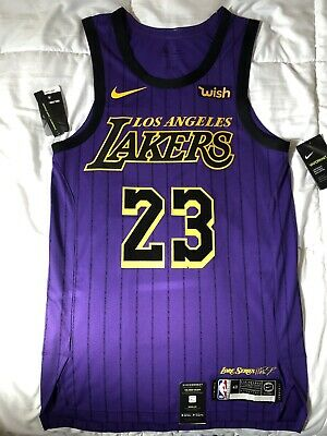 low priced 1699f 0bcfc 100% AUTHENTIC LEBRON James Nike City Edition Lakers jersey