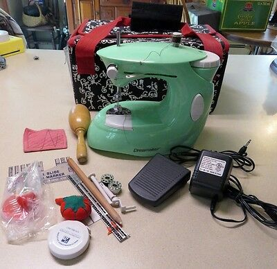 Dressmaker Portable Sewing Machine with Accessories Working Condition Model 997H