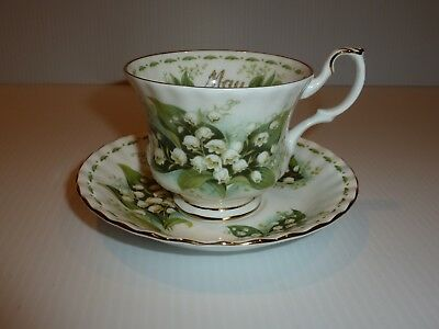 """Royal Albert """"May"""" Lily of the Valley Cup and Saucer"""