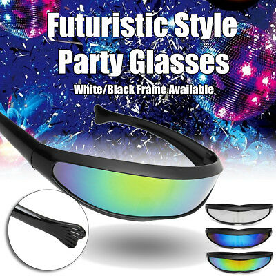 decbfe533ba8 Futuristic Narrow Cyclops Sunglasses Mirrored Lens Glasses Party Decoration  New