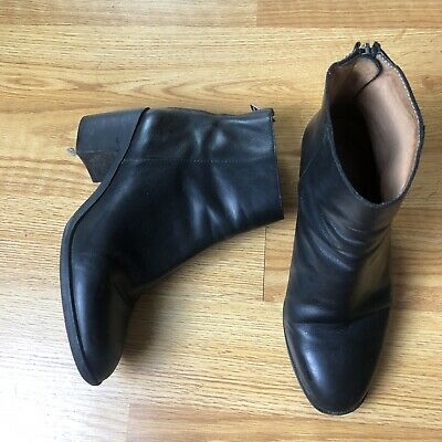 6238fc11a7b MADEWELL 7.5 PAULINE Leather Ankle Boots Black E0276 $238 Women's Booties