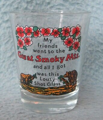 Great Smoky Mountains Souvenir Shot Glass