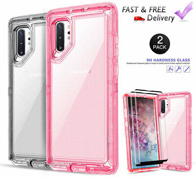 For Samsung Galaxy S10/S10E/S10 Plus Clear Defender Cover Case + Tempered Glass