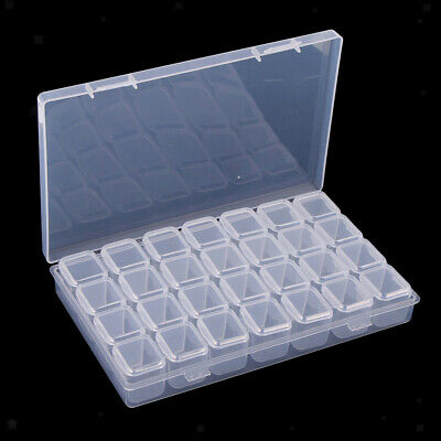 1 Set 28 Grids Clear Small Parts Storage Box Beads Container Organizer Case