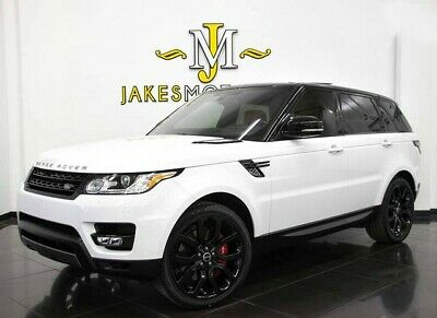 2016 Land Rover Range Rover Sport V8 Supercharged w/ Dynamic Pkg~ REAR DVD 2016 RANGE ROVER SPORT V8 SUPERCHARGED DYNAMIC~REAR DVD~ WHITE ON RED~ 21K MILES