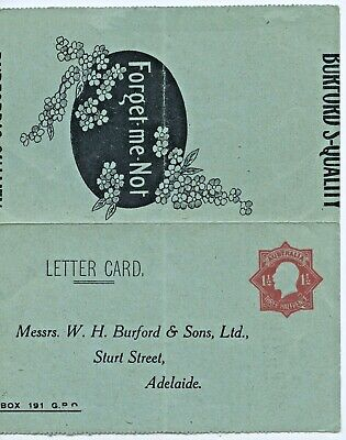 1924-28 Unused Kg V Lettercard Embossed  W H Burford & Sons Ltd Goods List Y20