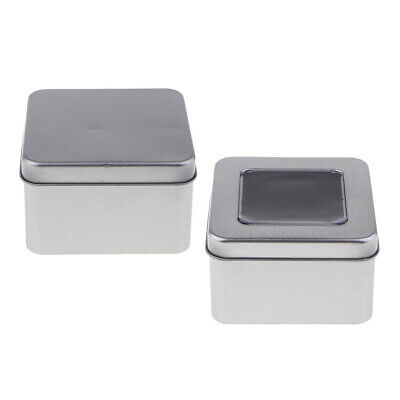 Rectangle Metal Tin Can Box Silver Blank Storage Case Money Coin Candy Craft