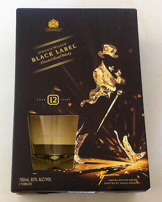Johnnie Walker Black Label Gift Box with 2 x Tumbler Glasses