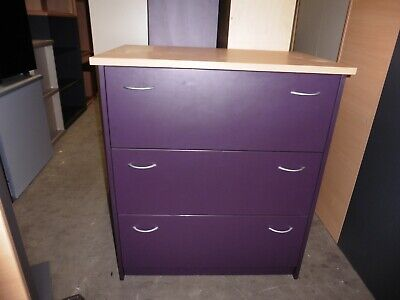 Office Timber 3 X Door Lateral Filing Cabinet Brisbane