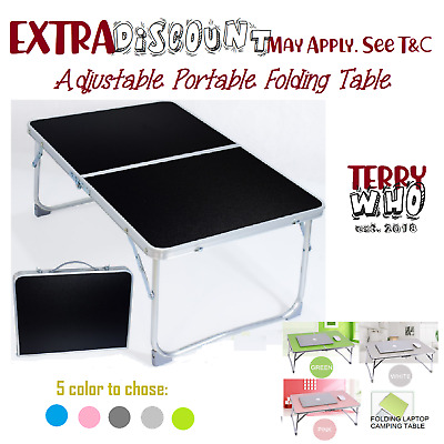 Folding Computer  Desk Adjustable Portable Camping  Reading Bed Tray