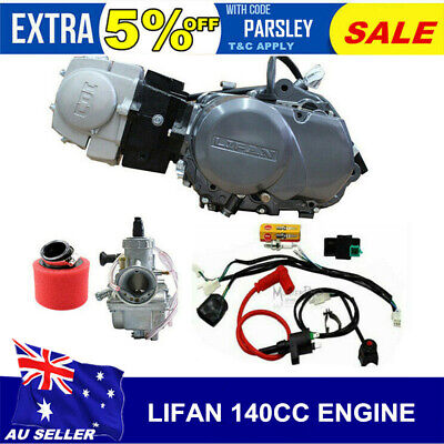 LIFAN 140cc Oil-cooled Engine 4 Speed MANUAL CLUTCH Pit Dirt Bike Motorcycle