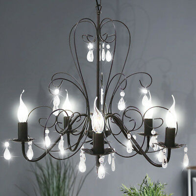 Ceilings Chandelier 58 cm Reading - Lamp 5 Arms Retro Country House Style