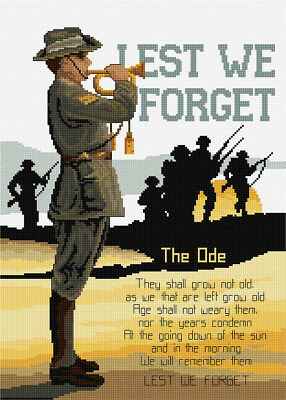 Lest We Forget Cross Stitch CHART - Country Threads