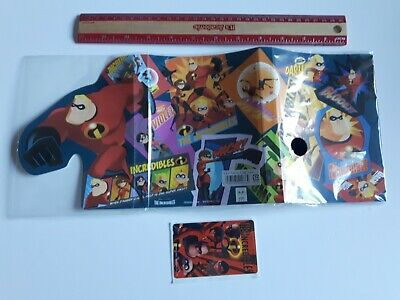 Disney Pixar The Incredibles Photo Album w/ sticker sheet japanese exclusive