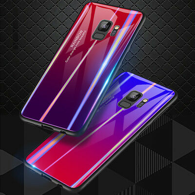 Hybrid Armor Case Tempered Glass Back Cover For Samsung Galaxy Note 9 S9 Plus s9