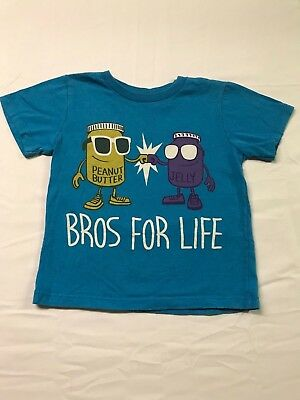 Boys Hybrid 4T 4 Bros For Life Peanut Butter & Jelly Short Sleeve T-Shirt