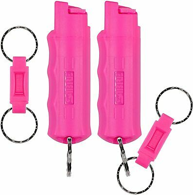 Pepper Spray Compact Pink Case Quick Release Mase Self Defense Police Strength