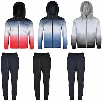 Girls Boys Ombre Jacket or Trousers Kids Hooded Top Jogging Pants Bottoms 3-16 Y