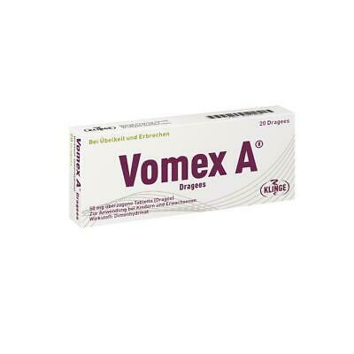 Vomex A Dragees N 20 St PZN: 4274616