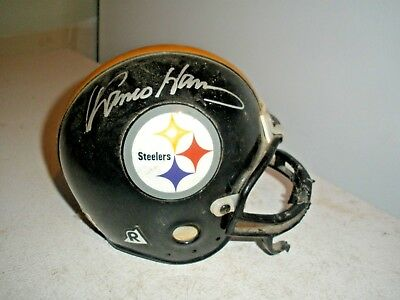 df2be0003 Franco Harris Autographed Signed Pittsburgh Steelers Riddell Mini Helmet