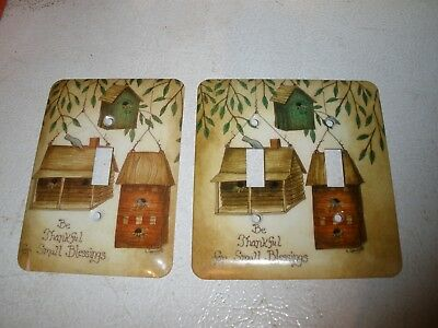 Be Thankful for Small Blessings Single & Double Light Switch Plate Metal
