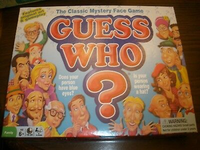 NEW Guess Who Classic Mystery Face Game Milton Bradley 2015
