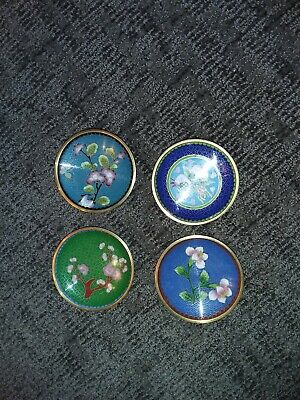 4 - SMALL Japanese Hand painted Saucers Vintage