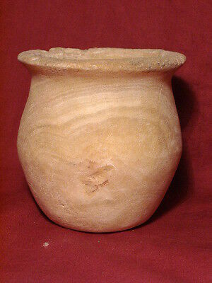 Ancient Large Size White Marble Pot Bactrian 300 BC #604