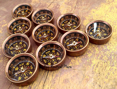LOT OF 50 PC BRASS  POCKET COMPASS MARITIME NAUTICAL VINTAGE  Nackless/ Pendant