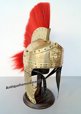 Medieval Greek Greco~ Roman Spartan King Leonidas 300 Movie Helmet Sca/ Larp