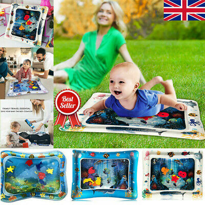 Inflatable Water Play Mat Baby Infant Toddlers Mattress Splash Kids Fun UK SN