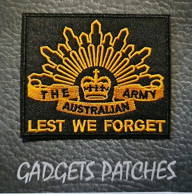 LEST WE FORGET Anzac Australia Iron On Patch Sew