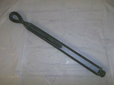 "Galvanized Steel Tower Turnbuckle One Eye 19.5"" Long Oval Eye Eye And Eye"