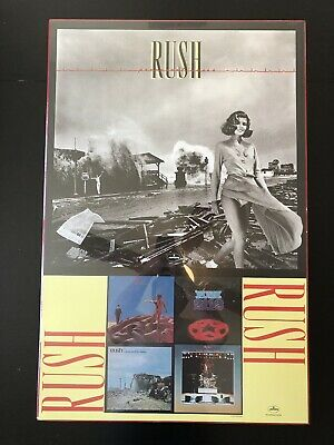 Rush Permanent Waves Promo Poster! Rare (Dry Mounted) MP576 1984