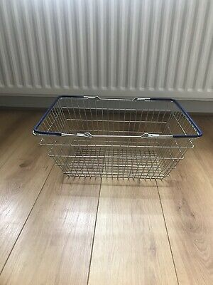 Blue Handle Wire Shopping Baskets