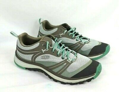 a3cb9fc45d05 KEEN Womens SIZE 7.5 Mint Green   Gray Lace Up Running Hiking Sneakers