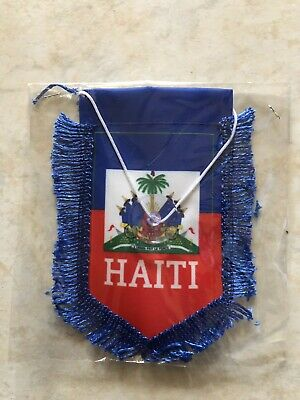 BANNER 18x12 INCHES H HAITI CAR FLAG 18/'/' x 12/'/' HAITIAN CAR FLAGS 30 x 45cm