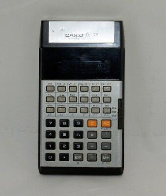 Casio fx-39 Scientific Electronic Calculator Vintage Green LED